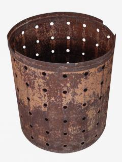 Rusty Metal Drum Table - 1017486