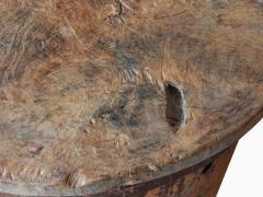 Rusty Metal Drum Table - 1017488