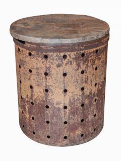 Rusty Metal Drum Table - 1017489