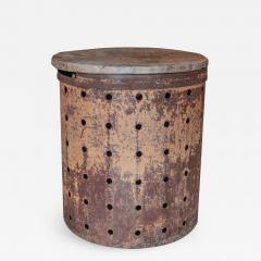 Rusty Metal Drum Table - 1017669