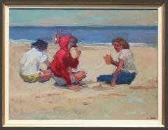S C Yuan Three Figures on the Beach - 1499085