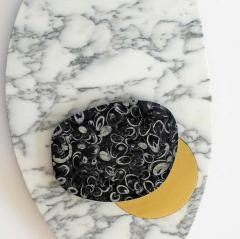 S bastien Caporusso Wall Lamp in Marble and Brass S bastien Caporusso WHITE  - 1281871