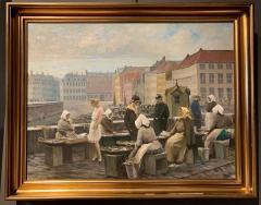 S ren Christian Bjulf 1920s S C Bjulf Fish Market at Gammel Strand Copenhagen - 1350557