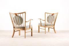 S ren Hansen Pair of S ren Hansen Lounge Chairs for Fritz Hansen 1940s - 1063375