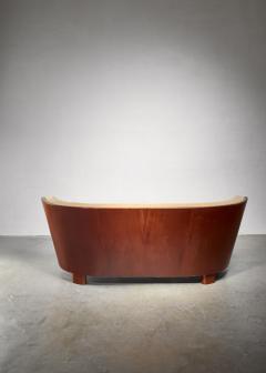 S ren Willadsen S ren Willadsen sofa with rounded mahogany frame - 1300629