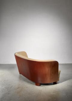 S ren Willadsen S ren Willadsen sofa with rounded mahogany frame - 1300630
