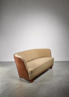 S ren Willadsen S ren Willadsen sofa with rounded mahogany frame - 1300631