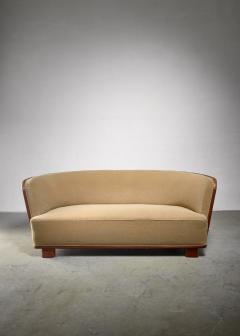 S ren Willadsen S ren Willadsen sofa with rounded mahogany frame - 1300632