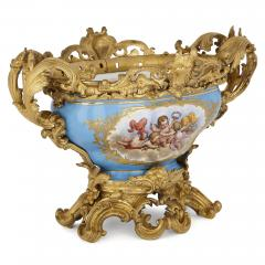 S vres style porcelain and gilt bronze centrepiece bowl - 1641550