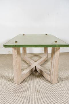 SAINT GOBAIN GLASS AND CERUSED OAK LOW TABLE - 1845402