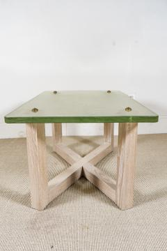 SAINT GOBAIN GLASS AND CERUSED OAK LOW TABLE - 1845406
