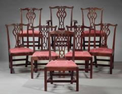 SET OF EIGHT CHIPPENDALE CHAIRS - 1401159