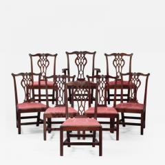 SET OF EIGHT CHIPPENDALE CHAIRS - 1401160