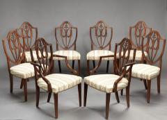 SET OF EIGHT FEDERAL SHIELD BACK DINING CHAIRS - 1328527