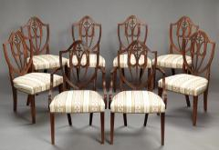 SET OF EIGHT FEDERAL SHIELD BACK DINING CHAIRS - 1328532