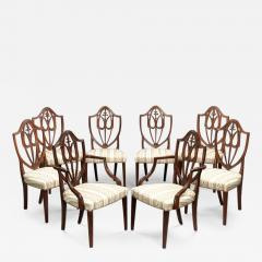 SET OF EIGHT FEDERAL SHIELD BACK DINING CHAIRS - 1330042