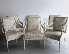 SET OF SIX 18TH CENTURY PAINTED FAUTEUILS - 1793013