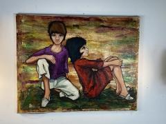 SIGNED 1963 POP ART CHILDREN PAINTING - 1205476
