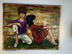 SIGNED 1963 POP ART CHILDREN PAINTING - 1205477