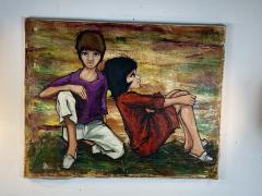 SIGNED 1963 POP ART CHILDREN PAINTING - 1205478