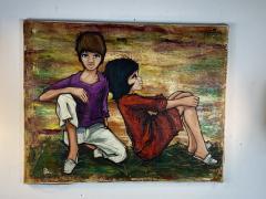 SIGNED 1963 POP ART CHILDREN PAINTING - 1205479