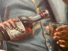 SIGNED DRINKING CIVIL WAR SOLDIER WITH BOTTLE OF BOURBON PAINTING - 1791045
