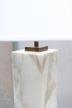 SINGLE T H ROBSJOHN GIBBINGS FOR HANSEN MARBLE TABLE LAMP - 1512337