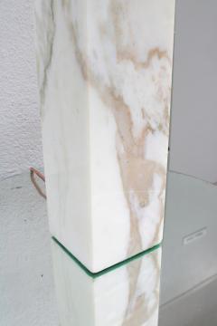 SINGLE T H ROBSJOHN GIBBINGS FOR HANSEN MARBLE TABLE LAMP - 1512339