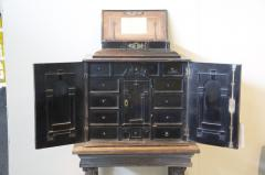 SIR WALTER SCOTT FLEMISH EBONY VENEERED TABLE CABINET ON STAND - 924735