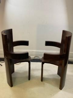 SIX MODERNIST BURLWOOD ART DECO REVIVAL DINING CHAIRS - 1469330