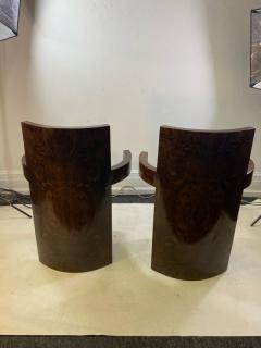SIX MODERNIST BURLWOOD ART DECO REVIVAL DINING CHAIRS - 1469331