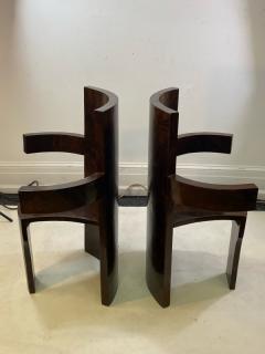 SIX MODERNIST BURLWOOD ART DECO REVIVAL DINING CHAIRS - 1469332