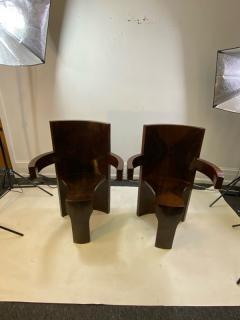 SIX MODERNIST BURLWOOD ART DECO REVIVAL DINING CHAIRS - 1469334