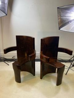 SIX MODERNIST BURLWOOD ART DECO REVIVAL DINING CHAIRS - 1469336