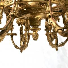 SPECTACULAR 19TH CTR FRENCH BRONZE TWENTY FOUR LIGHT CHANDELIER LOUIS XVI STYLE - 2054965