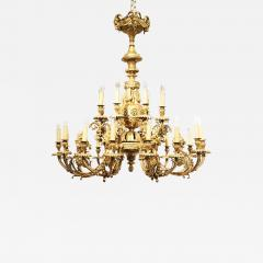SPECTACULAR 19TH CTR FRENCH BRONZE TWENTY FOUR LIGHT CHANDELIER LOUIS XVI STYLE - 2059973