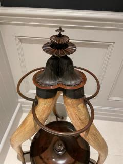 SPECTACULAR LONG HORN CATTLE STICK HALL STAND CIRCA 1880 - 1952621