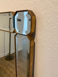 STUNNING MODERN FACETED AND BEVELED GEMSTONE CUT MIRROR - 1684528