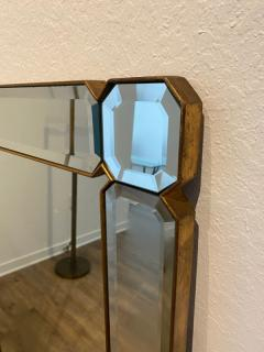 STUNNING MODERN FACETED AND BEVELED GEMSTONE CUT MIRROR - 1684529