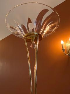 STUNNING MURANO GLASS AND BRASS FLOOR LAMP - 1909894