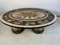 SUPERB MID CENTURY COLORFUL MOSAIC ZODIAC COFFEE TABLE - 1951549