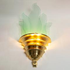 SWEDISH ART DECO SCONCE WITH GLASS FLAMES - 1244463
