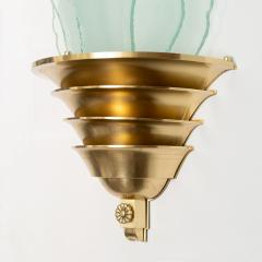 SWEDISH ART DECO SCONCE WITH GLASS FLAMES - 1244467