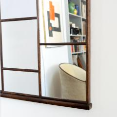 SWEDISH ART DECO STAINED BIRCH PANELED MIRROR - 1302352