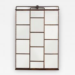 SWEDISH ART DECO STAINED BIRCH PANELED MIRROR - 1303121
