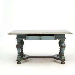 SWEDISH BAROQUE TABLE WITH FOSSIL LIMESTONE TOP - 2054990