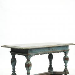 SWEDISH BAROQUE TABLE WITH FOSSIL LIMESTONE TOP - 2054991