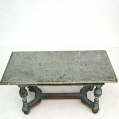 SWEDISH BAROQUE TABLE WITH FOSSIL LIMESTONE TOP - 2054992