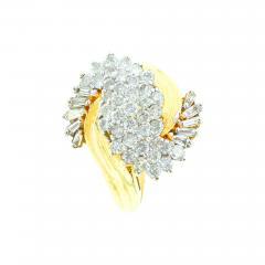 SWIRL SHAPE DIAMOND RING 14K YELLOW GOLD - 1940426