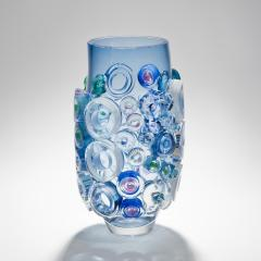 Sabine Lintzen Bright Field Aquamarine with Circles - 1426951